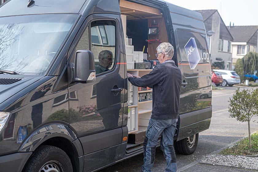 Bedrijfswagen met kwalitatief materieel