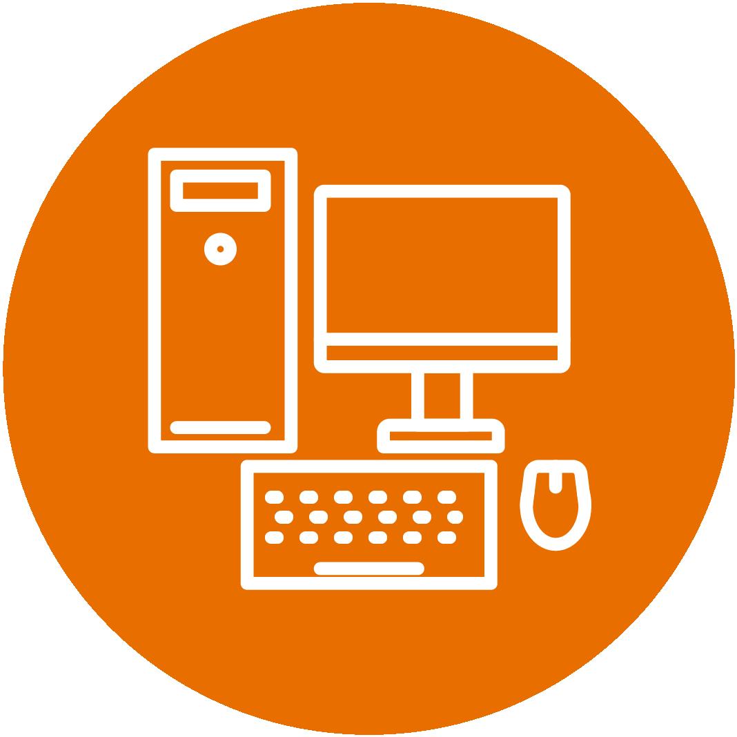 Orange Technology Icon