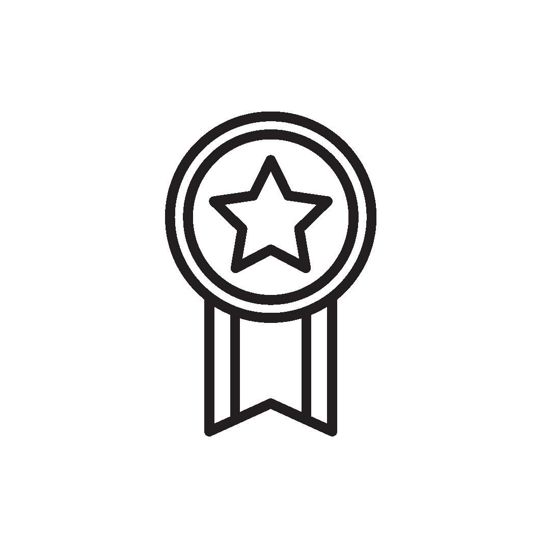 Black Award Icon