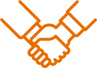 partnership inquiries icon orange