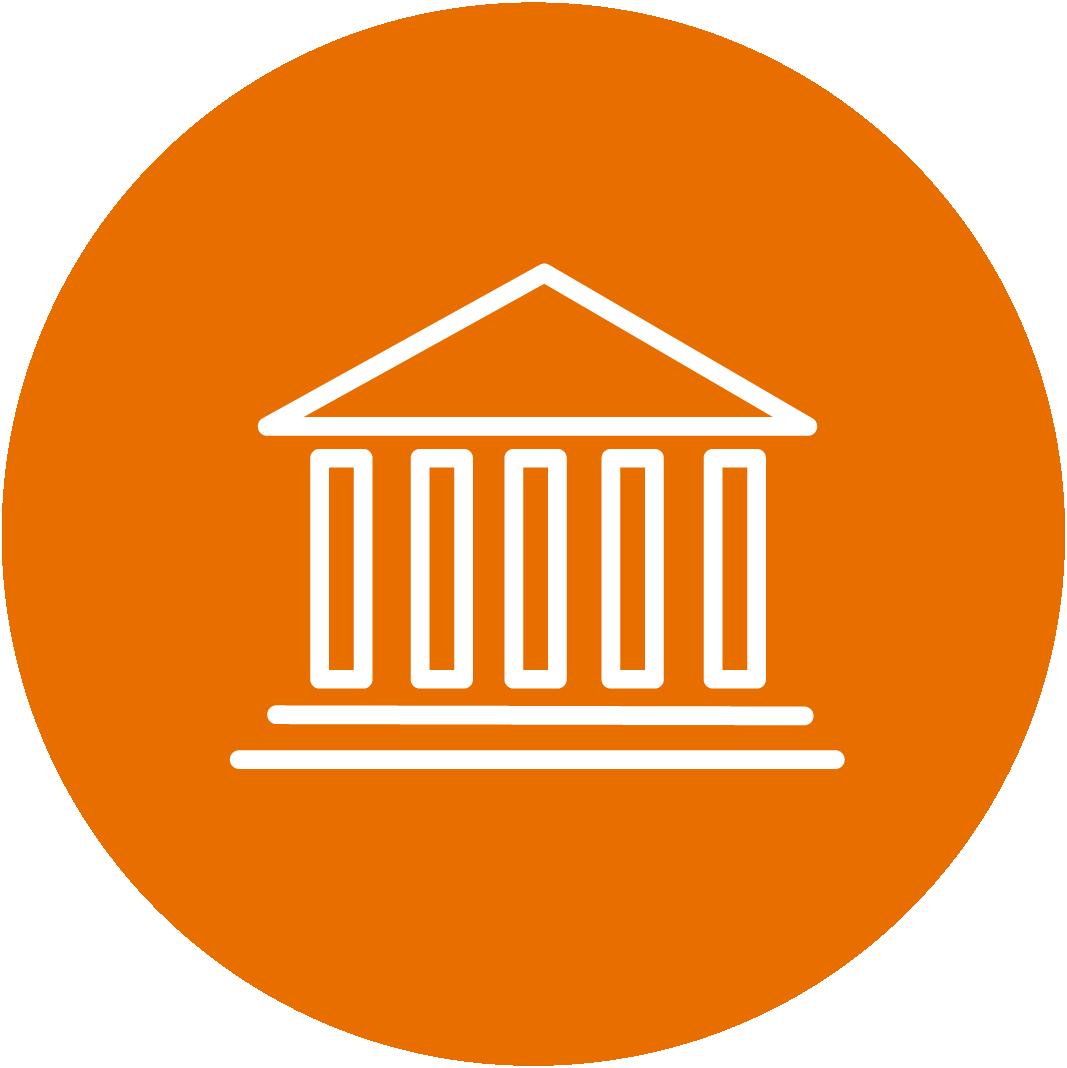 Orange Schools/Institution Icon