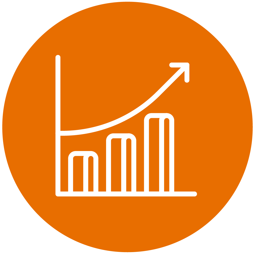 Orange Growth Icon
