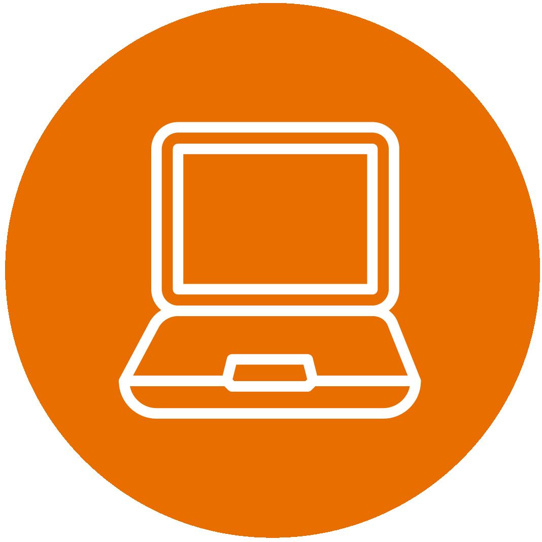 Orange Laptop Icon