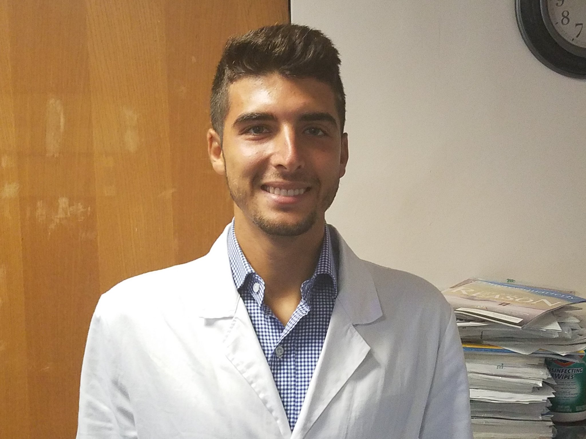 augusto at his rotation. Augusto completed his medical internship and developed a real bond with his preceptor and fellow rotators.