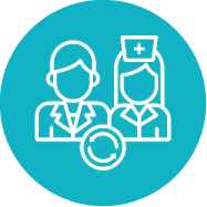 Option 1 rotating doctors icon