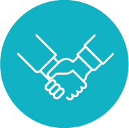 Option 3 partners shaking hands icon