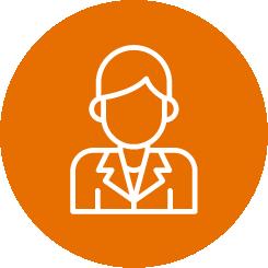 Orange Student icon