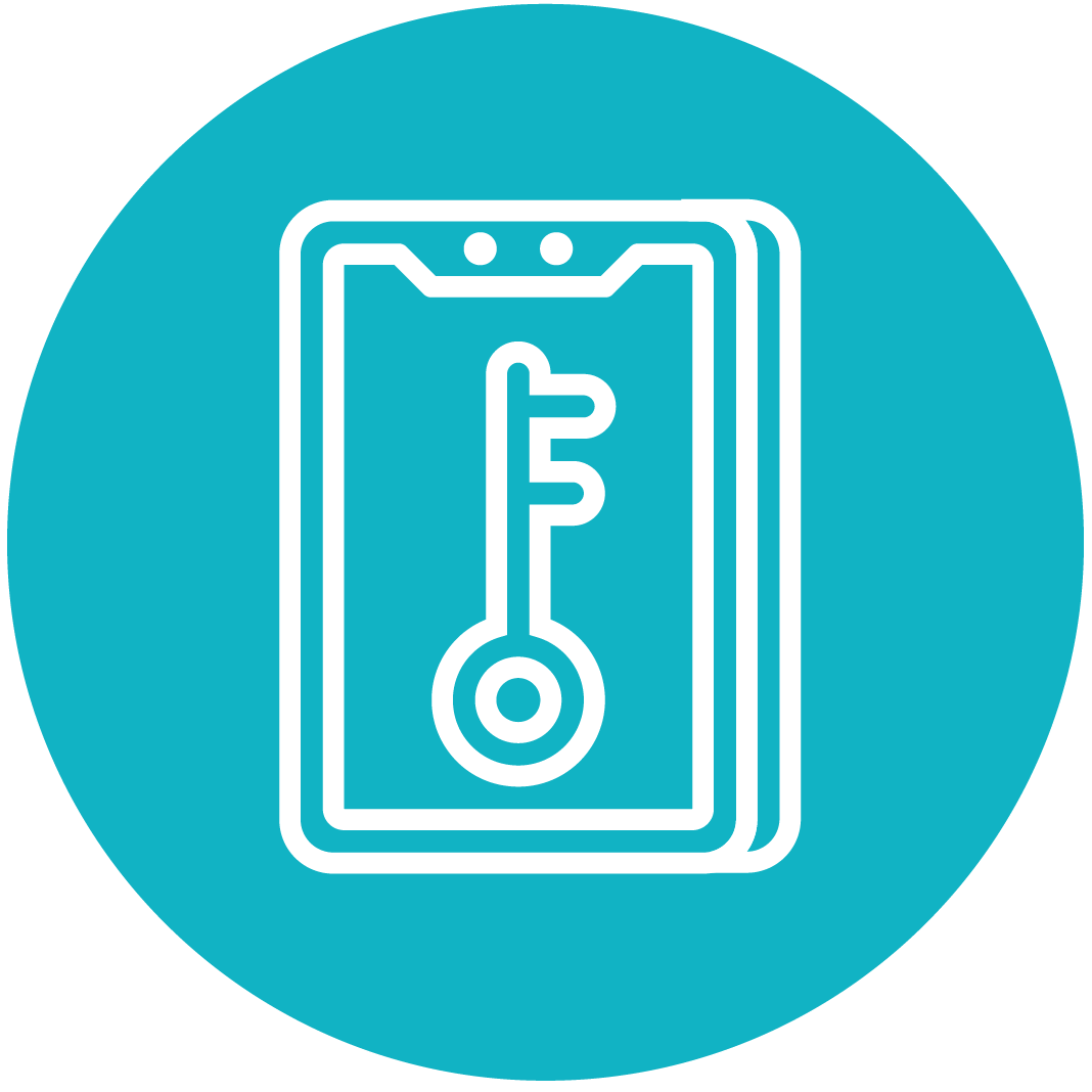 Blue access icon