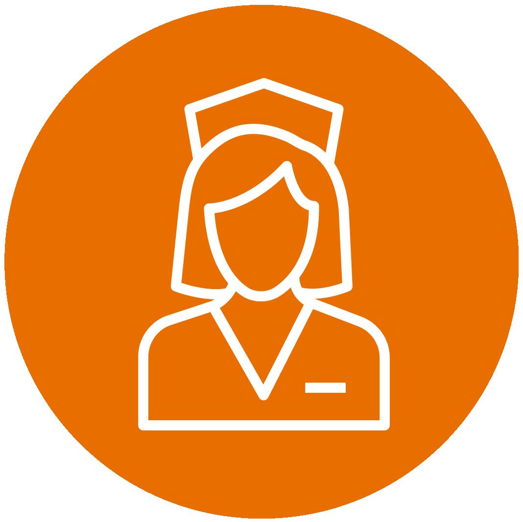 Orange Nursing Icon