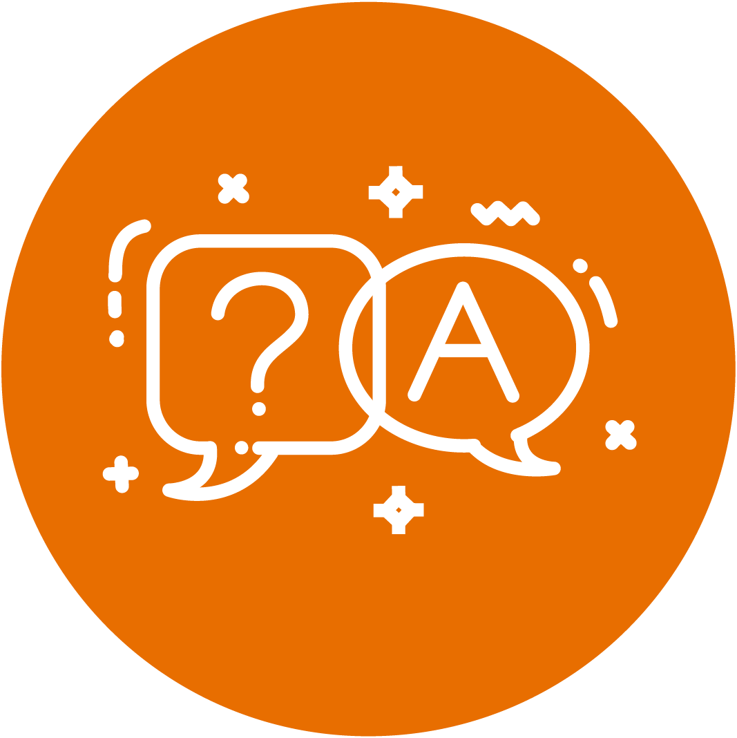 Orange Asking Questions Icon