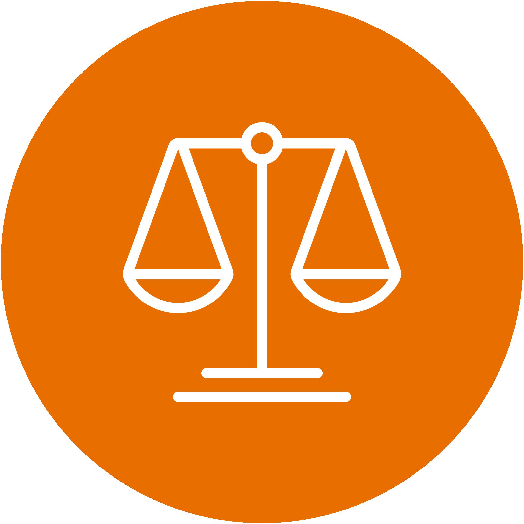 Orange balancing icon