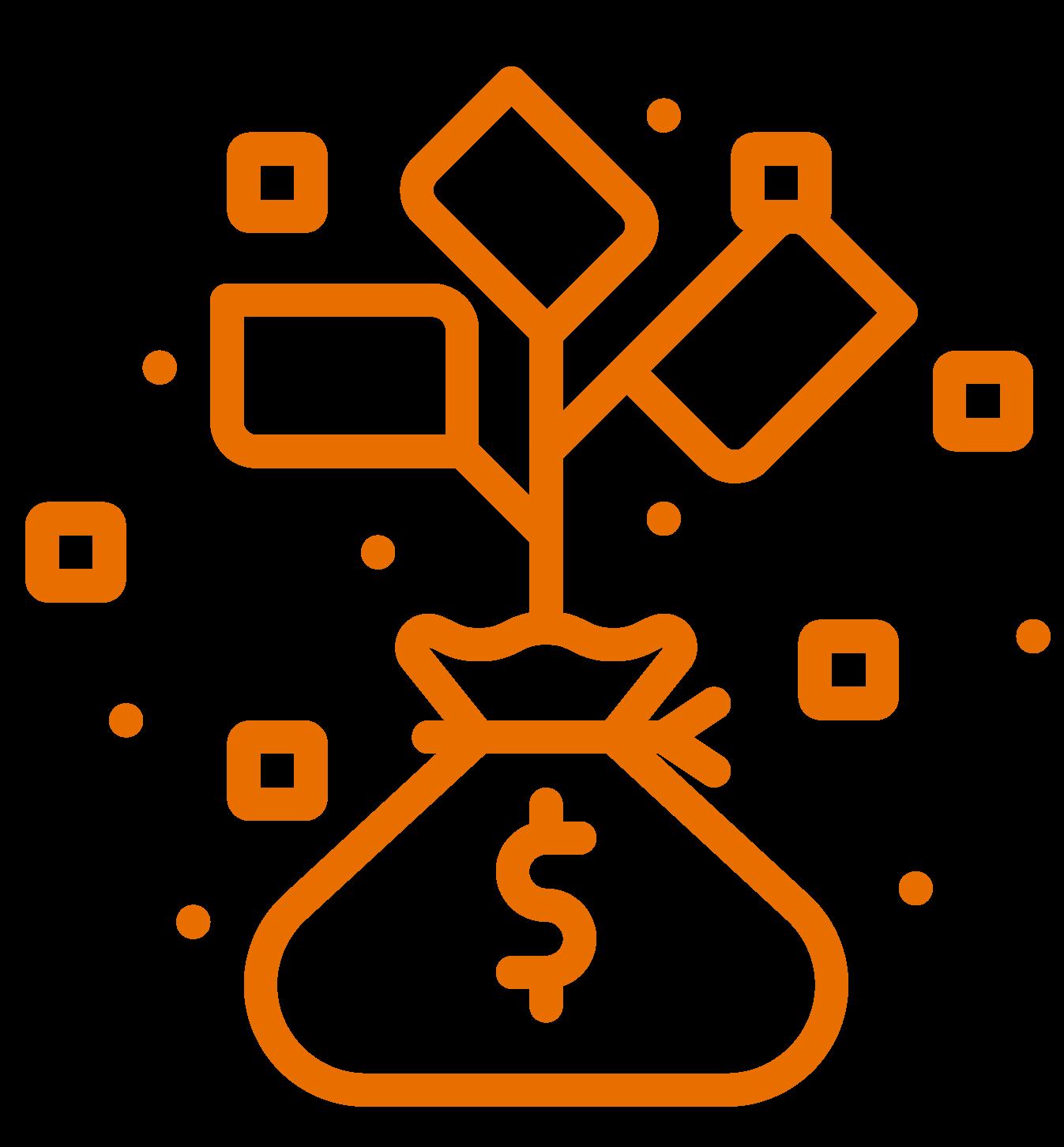 investing inquiries icon orange