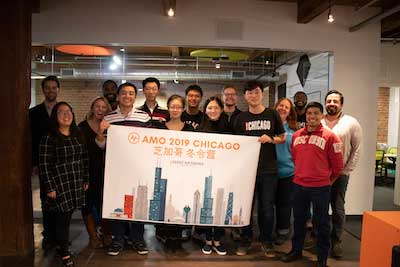 cohort from china comes to visit AMO office