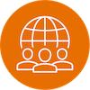 increase cultural competency icon orange
