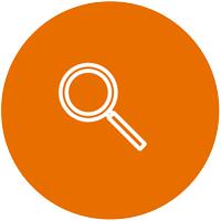 Orange Transparency Circle Icon