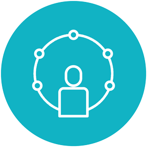 360 feedback process icon blue