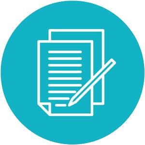 Feedback Survey Icon Blue