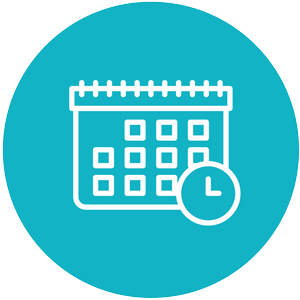 HR open office hours icon blue