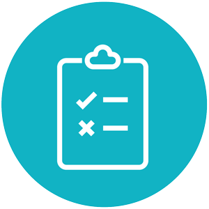 Start/Stop/Continue Questionnaires Icon Blue