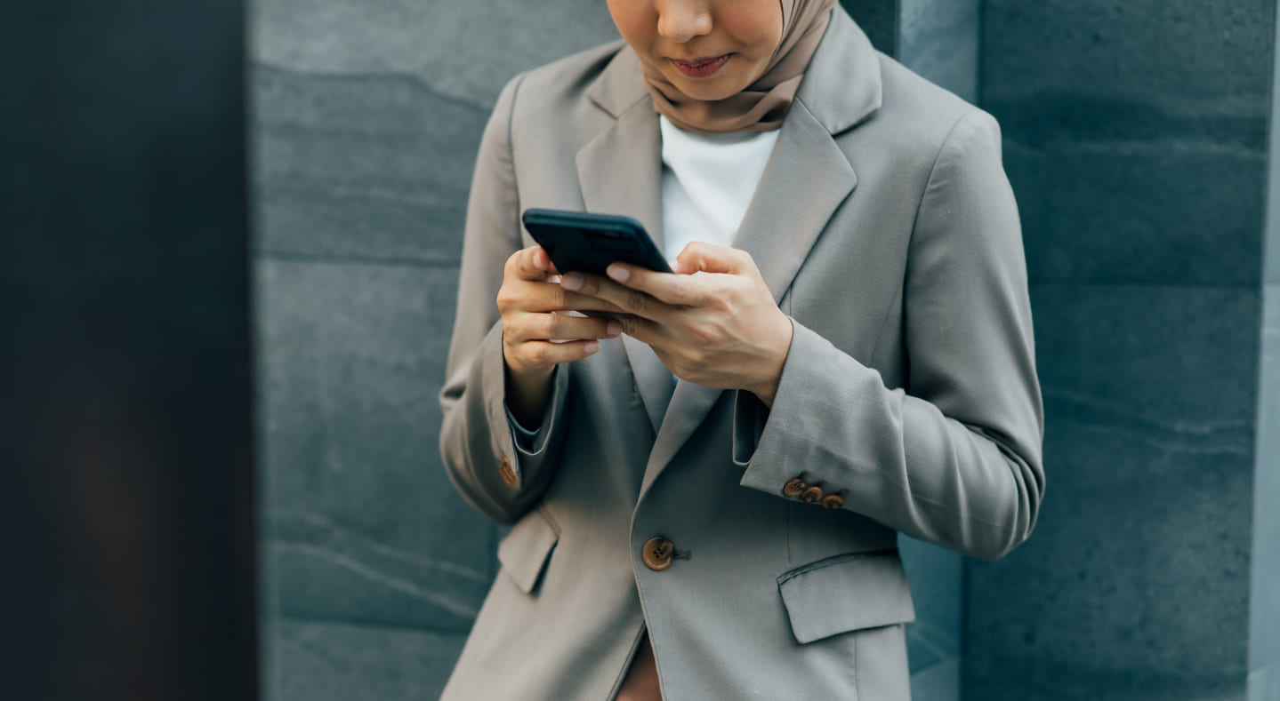Woman Looking at a phone