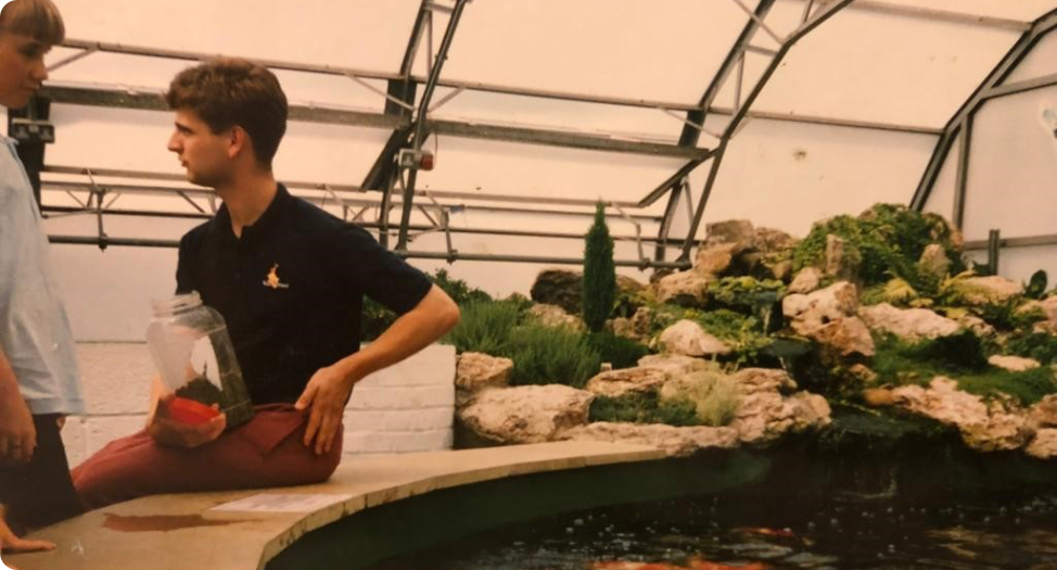 Andrew From Koi Water Gardens Ltd In his early days