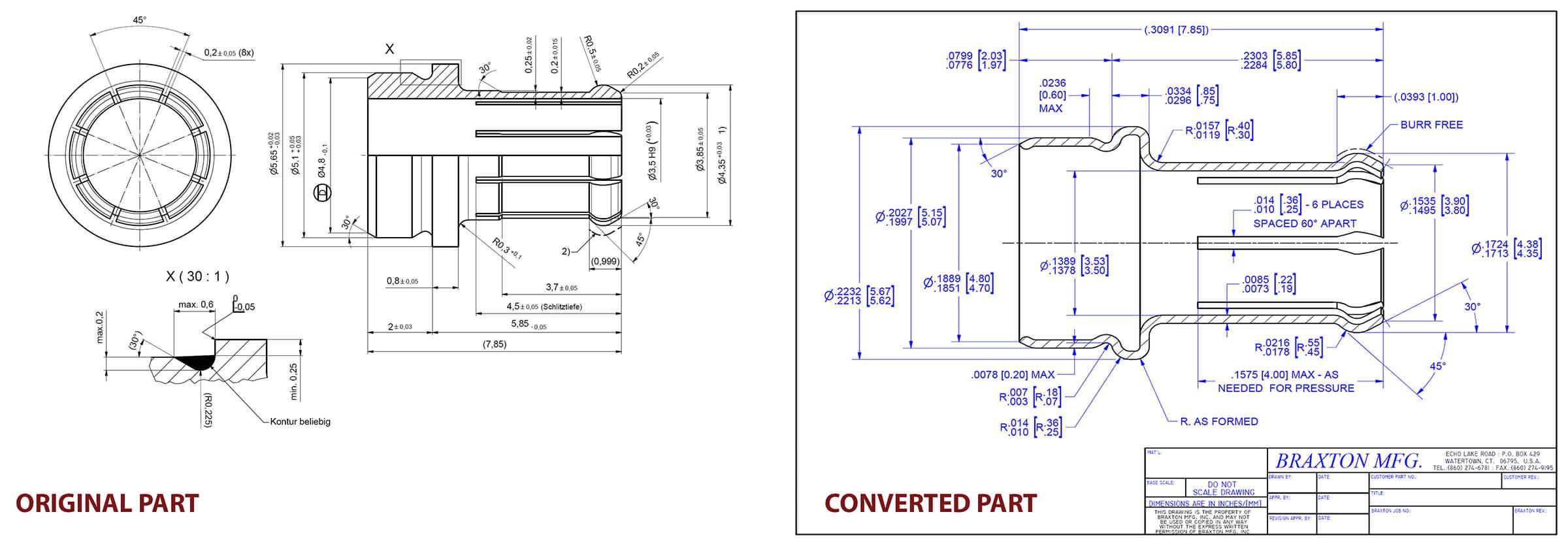 Deep draw conversion sample one