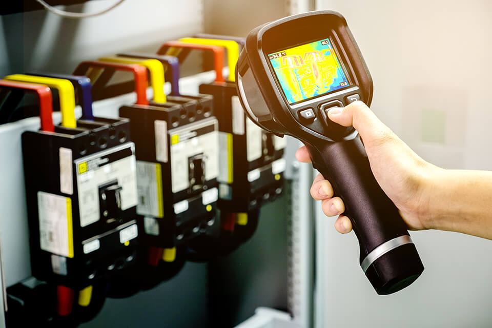 Hand held thermal imaging device.