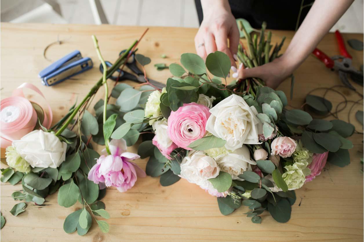 A florist turning their hobby into a career