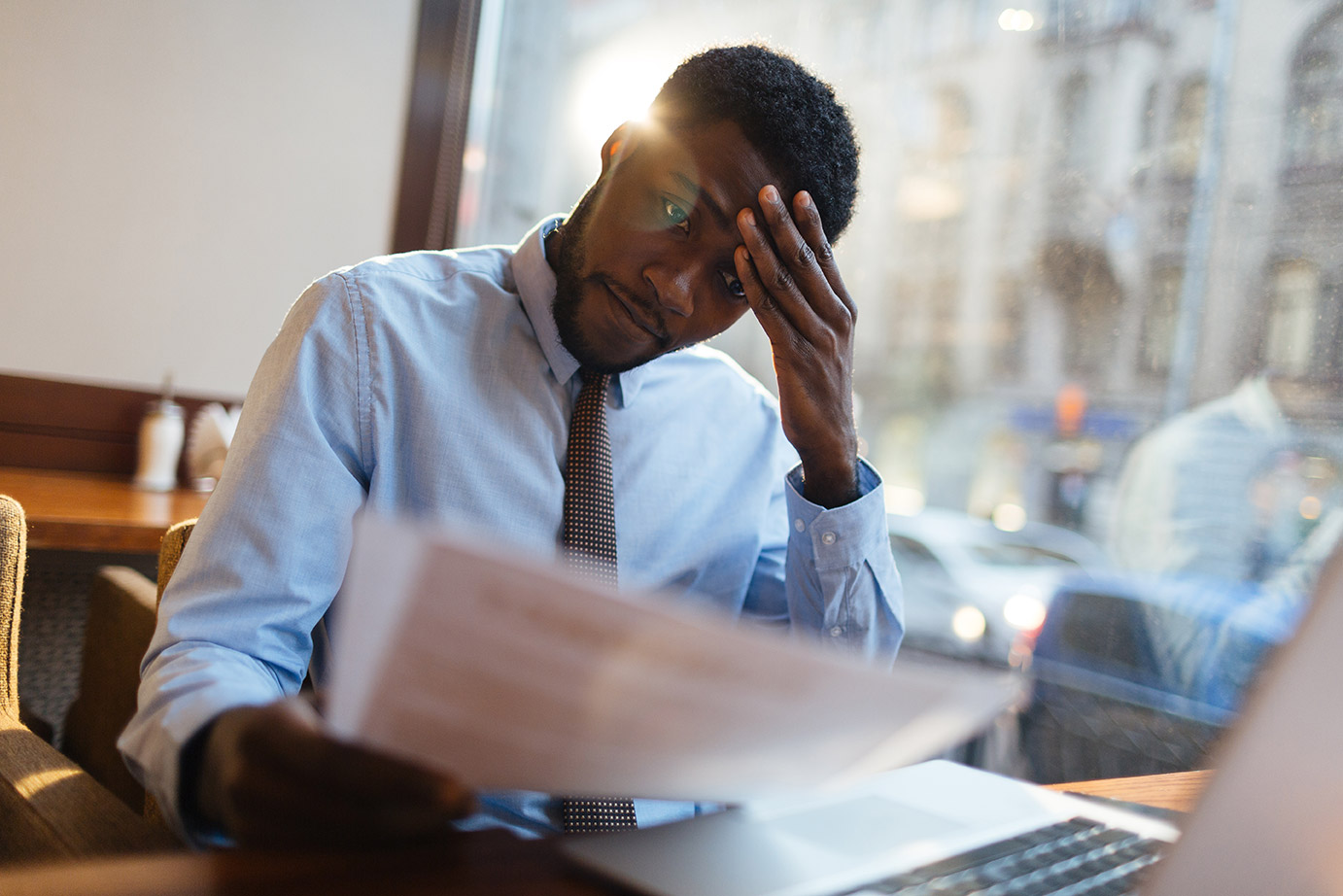 Coronavirus: three month extension announced for filing company accounts - Crunch - image of a stressed person