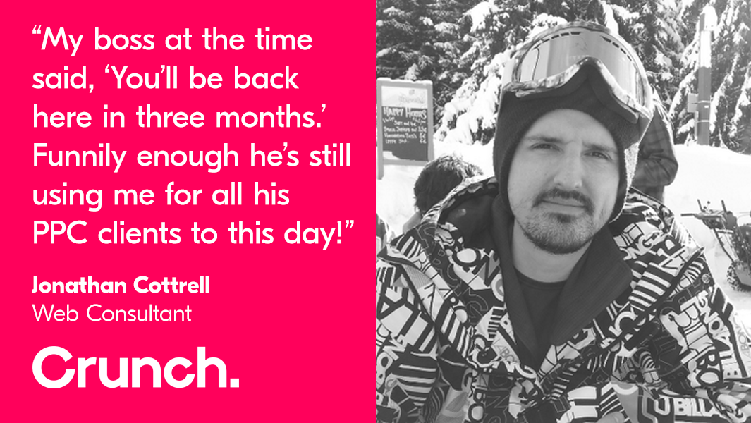 Crunch client stories: Web Consultant Jonathan Cottrell