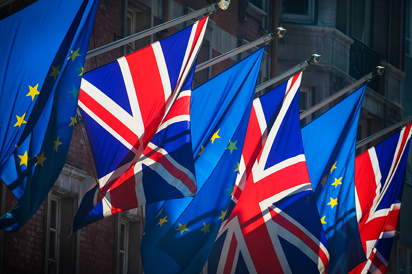 Reduce Brexit uncertainty with a remortgage from Crunch Mortgages - image of European and British flags