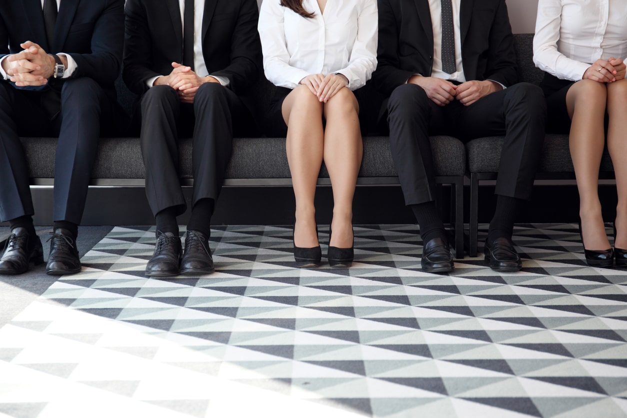 Small Business Owners – a guide to what documents you need when employing staff Image of people waiting for an interview | Crunch