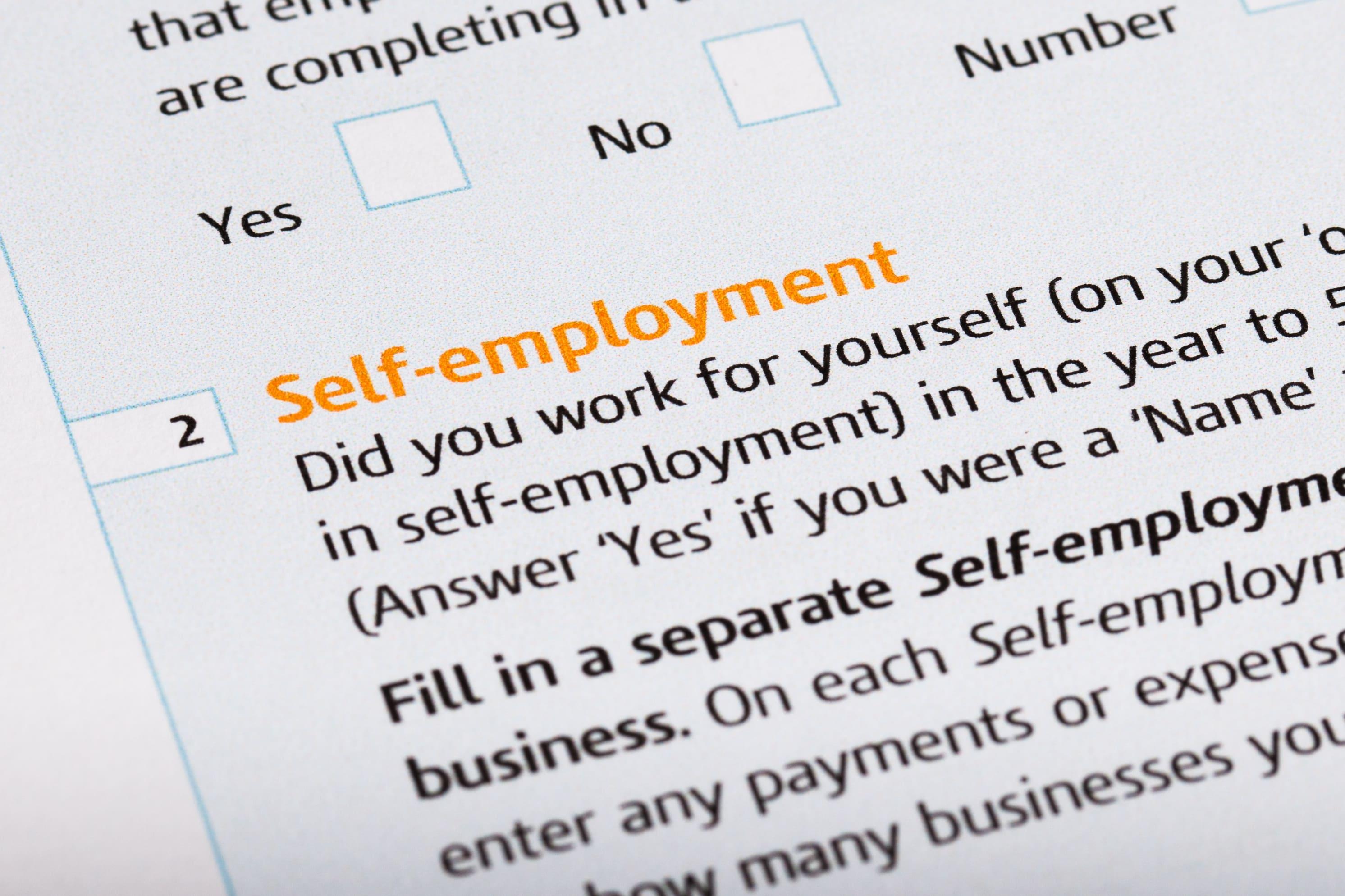 Self-employed form