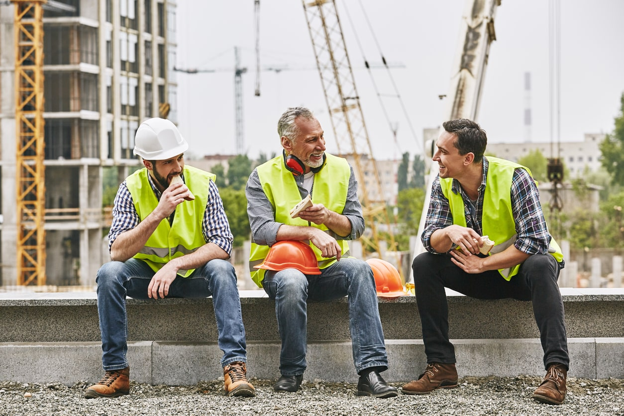 Interrupted breaks can still count as rest under the Working Time Regulations. Image of people taking a break