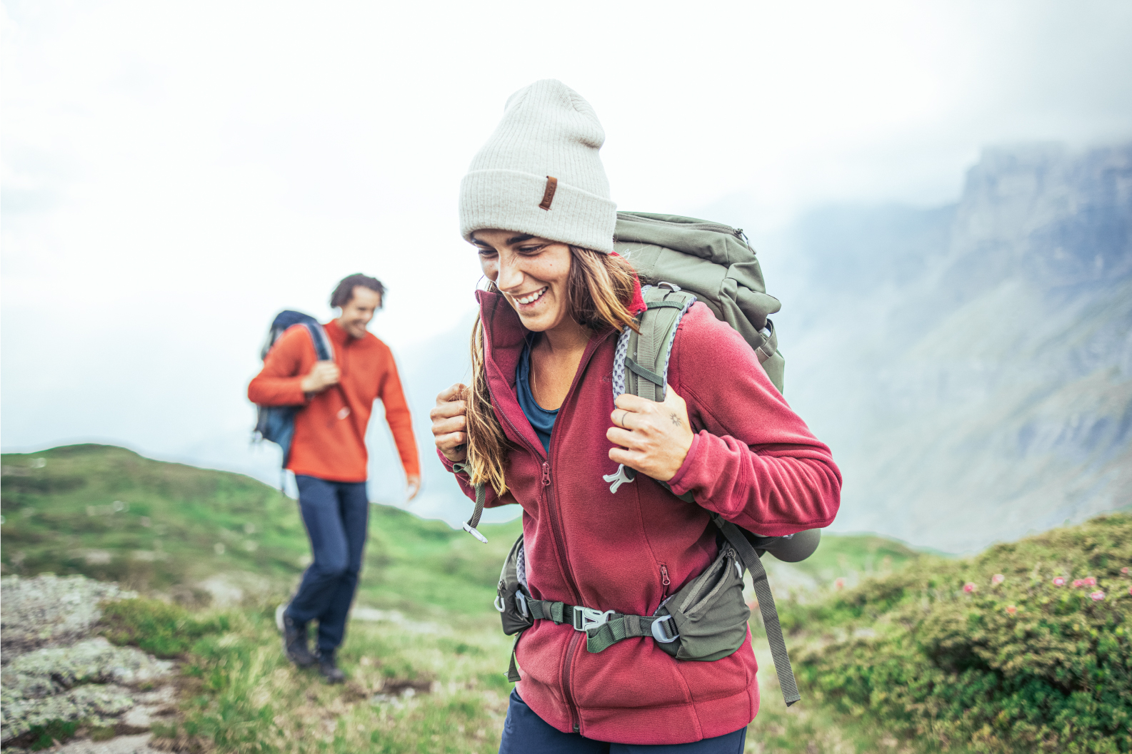 Ecodesign, sustainable fleeces for hiking
