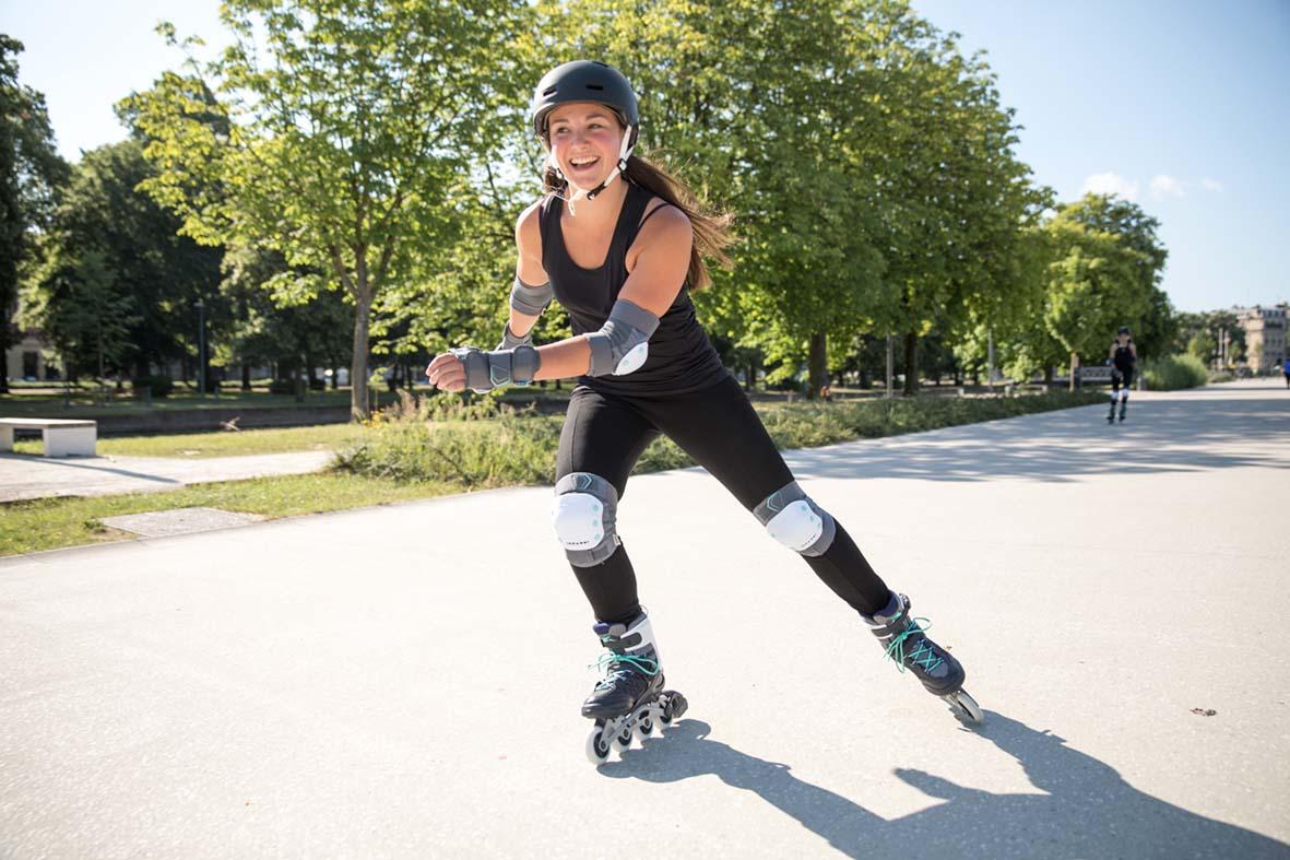 quad skates for sale Decathlon Ireland, in line skate, skating protection gear