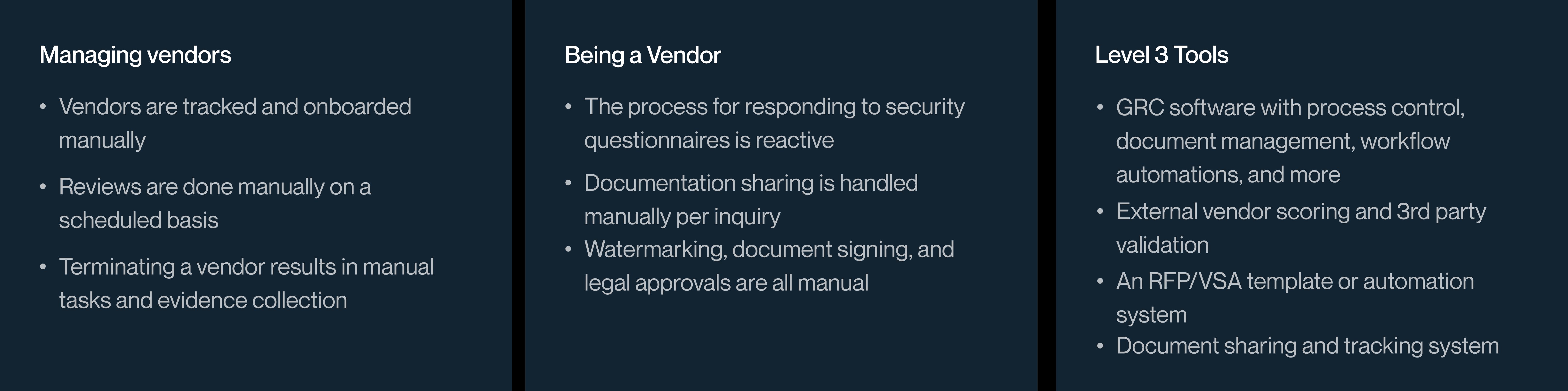 Vendor Management at Level 3