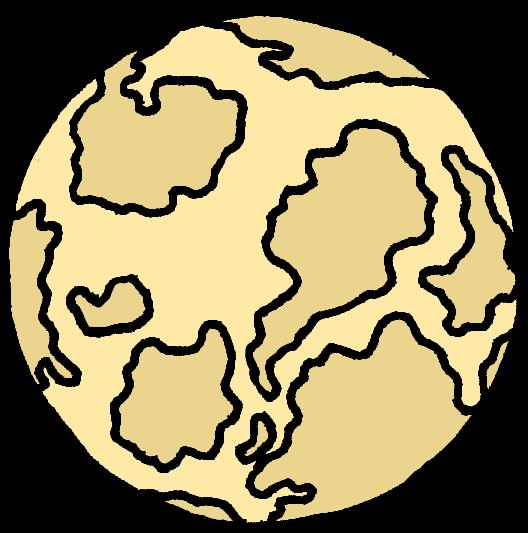 Light brown planet