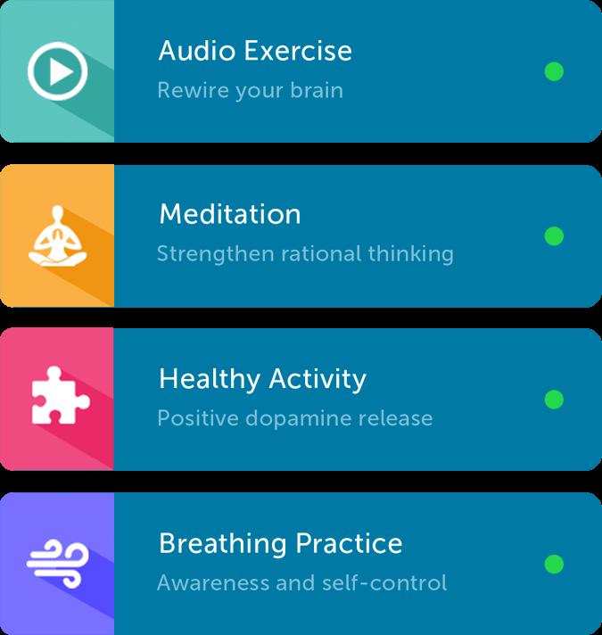 Brainbuddy porn addiction app exercise cards