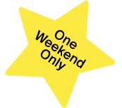 """Star that says """"One Weekend Only"""""""