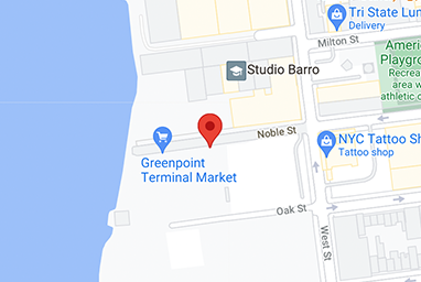 Image of the Greenpoint place on a map