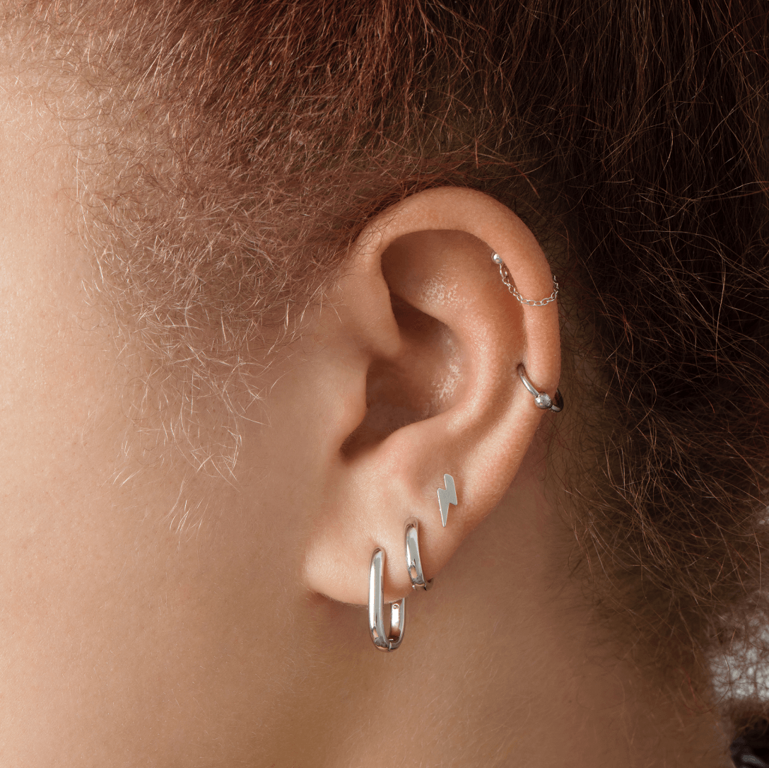 Image of silver earscape