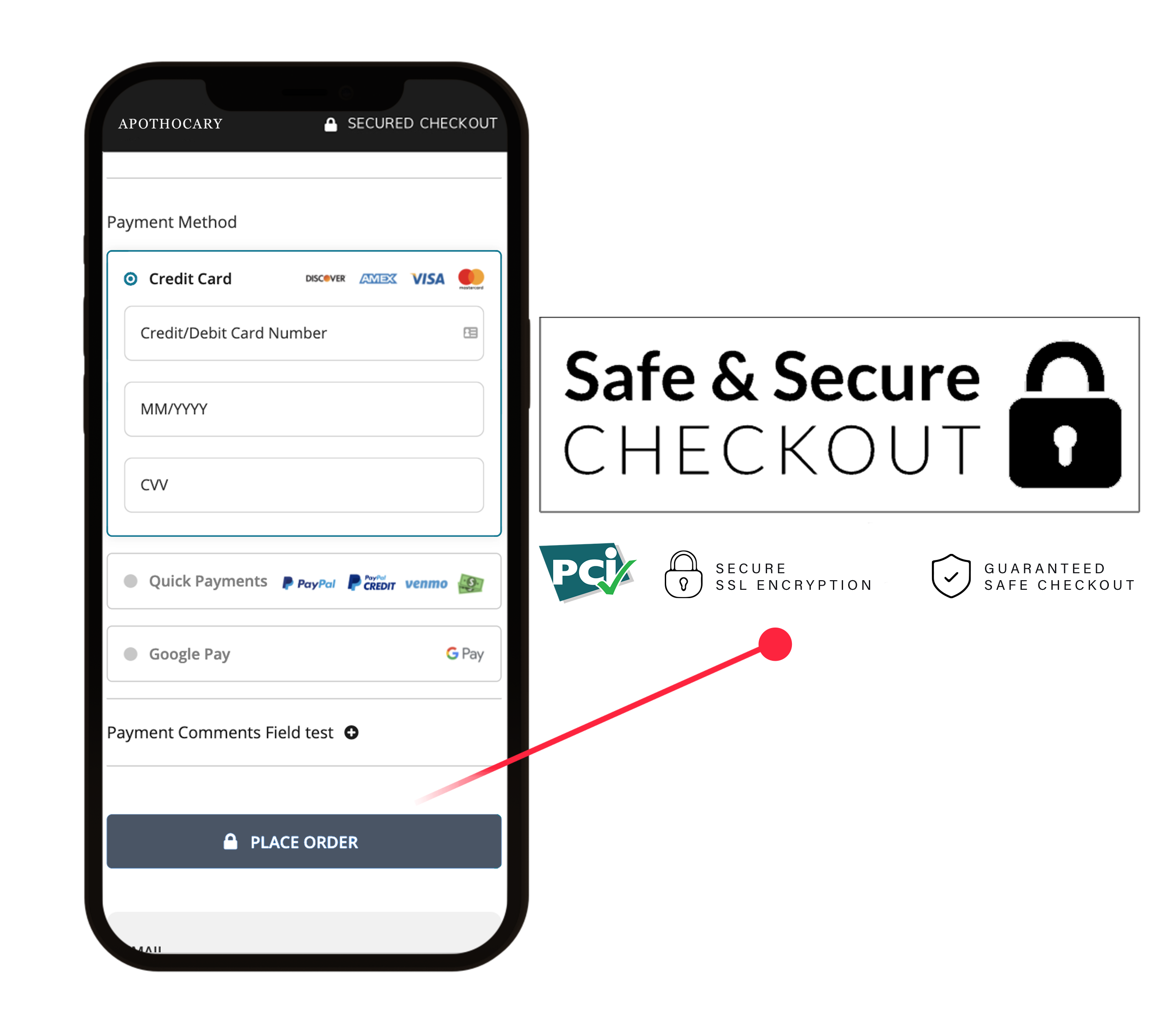 PCI Compiant Checkout Extension with 3D Secure for Magento, WooCommerce, BigCommerce, and Shopify