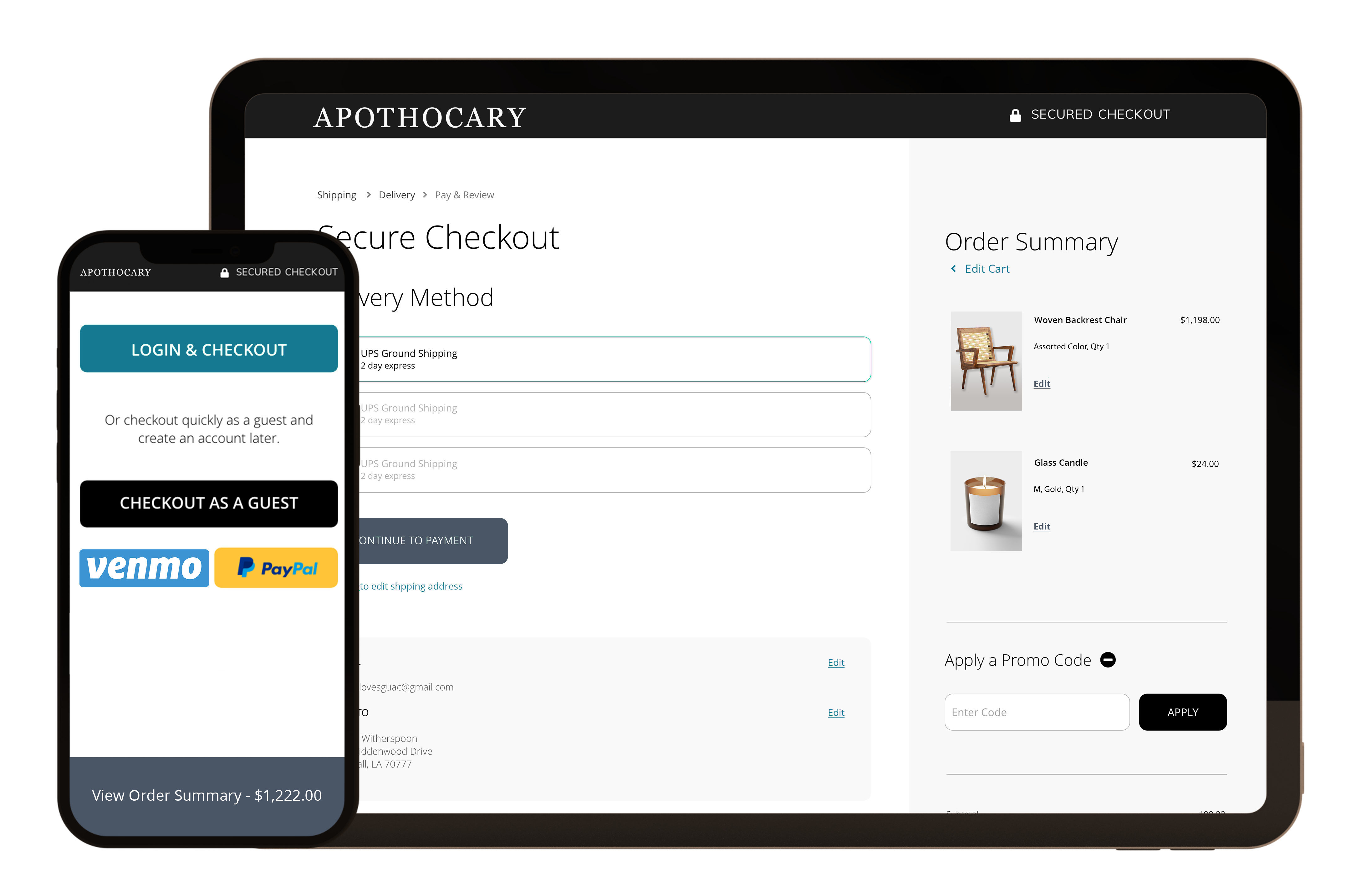 Multi-step and One-step Checkout Extension for Magento, Shopify, Bigcommerce, and Woocommerce