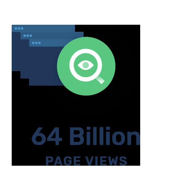 64 Billion page Views