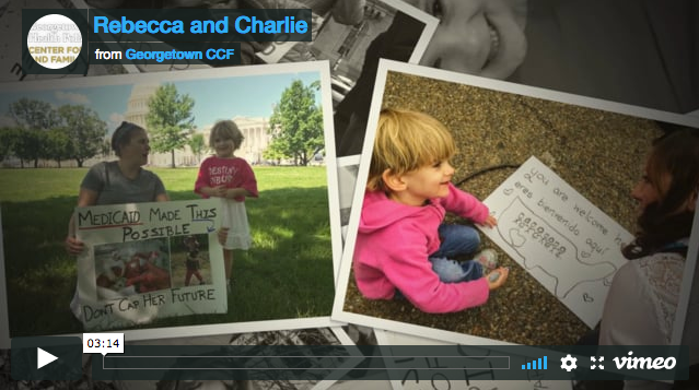 Charlie and Rebecca Wood Share Their Story on Why Medicaid Matters So Much to Medically Fragile Children. From the Georgetown University Health Policy Institute Center for Children and Their Families. Adam Searing shares a story from a family in Virginia. Pediatric Palliative Care Coalition App - PPCC - PPCA Legislative News