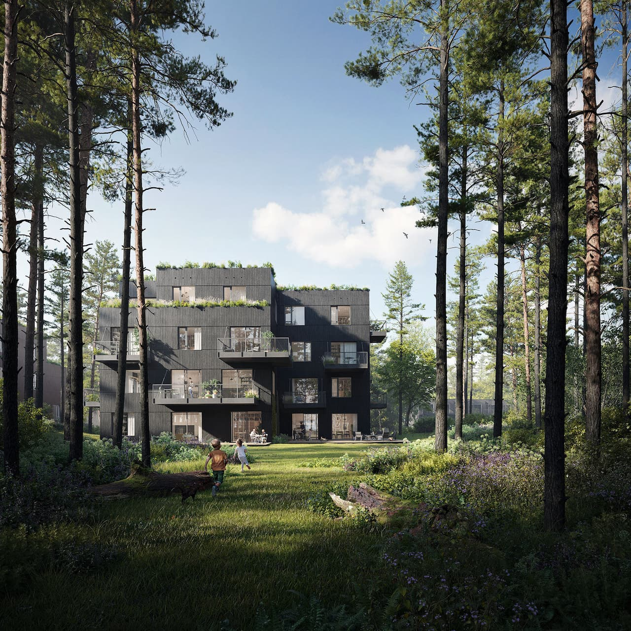 Firmly embedded in the historic Nimmerdor forest in Amersfoort, Common Woods redefines what it means for people to live in harmony with nature. We designed this visionary neighbourhood and all 56 circular homes in it with an eye for existing ecology, social inclusion and high quality of life. Each home and the neighbourhood as a whole is surrounded by a nature reserve rich in history and biodiversity and is designed based on the wishes of residents. It is set to be the most sustainable neighbourhood in Europe to date.