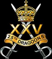 25th Dragoons Regimental Cap Badge