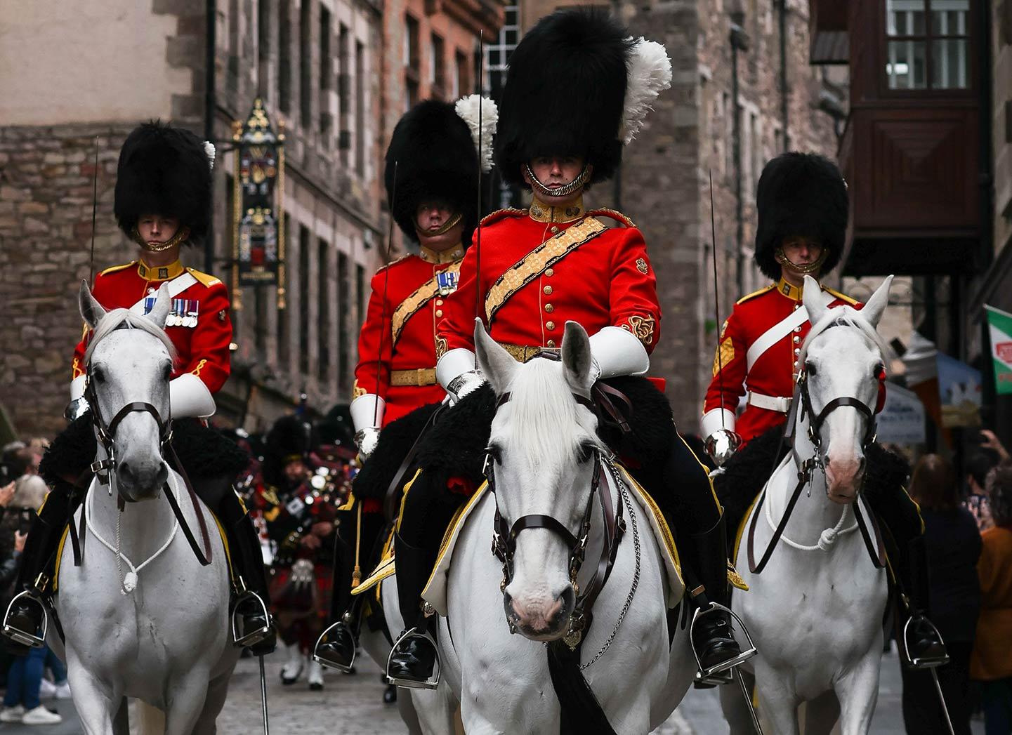 SCOTS DG parade through Edinburgh to celebrate 50 years