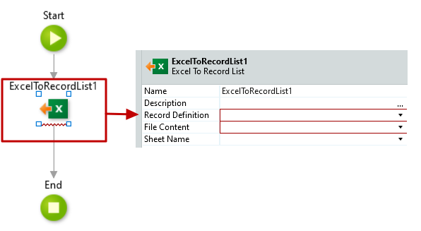 #4.13. Excel to Record List properties